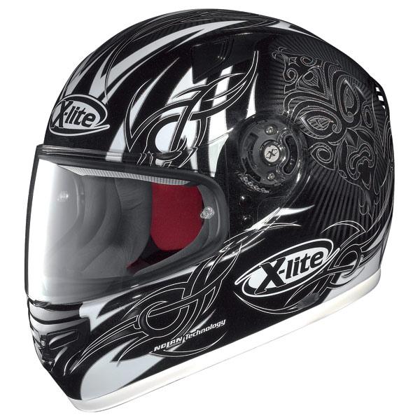 Casco moto X-Lite X-603 Mask N-Com metal black-white