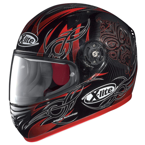 Casco moto X-Lite X-603 Mask N-Com metal black-red