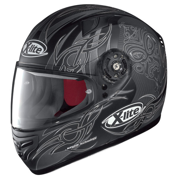 X-lite X-603 Mask N-Com flat black-red fullface helmet