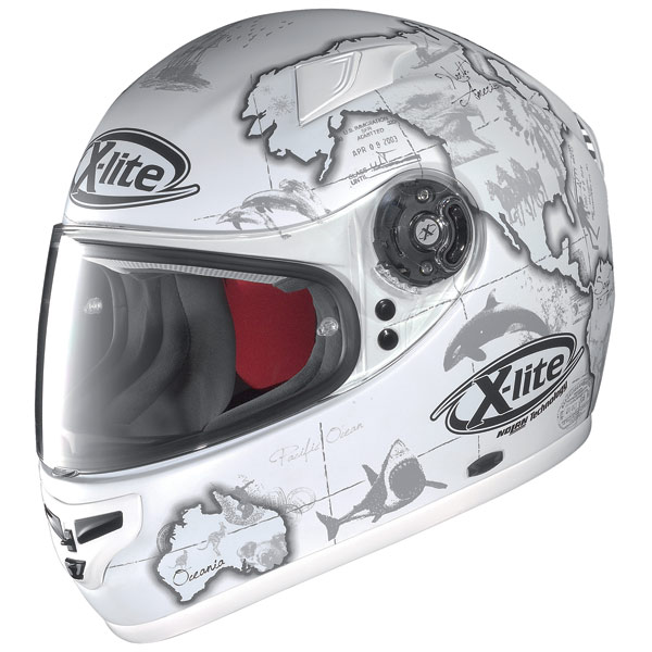 Casco moto X-Lite X-603 Replica N-Com C.Checa flat white
