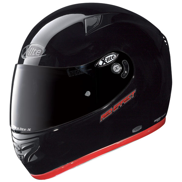 Casco moto X-Lite X-603 Red Effect N-Com nero