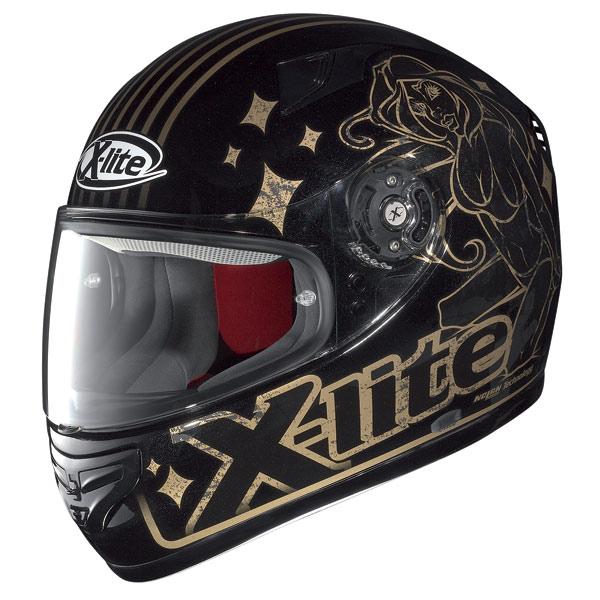 X-lite X-603 Dolly N-Com metal black-gold fullface helmet