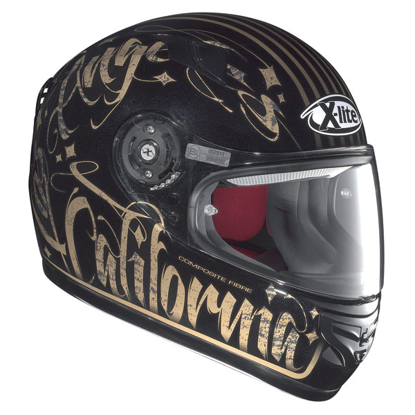 Casco moto X-Lite X-603 Dolly N-Com metal black-oro