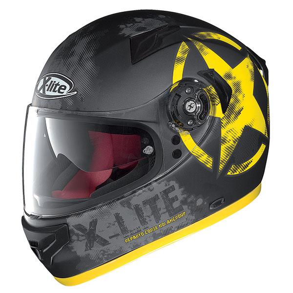 X-Lite X-661 Airman N-Com full face helmet Matt Black Yellow