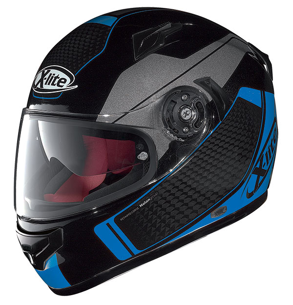 X-Lite X-661 Blink N-Com full face helmet Black Blue