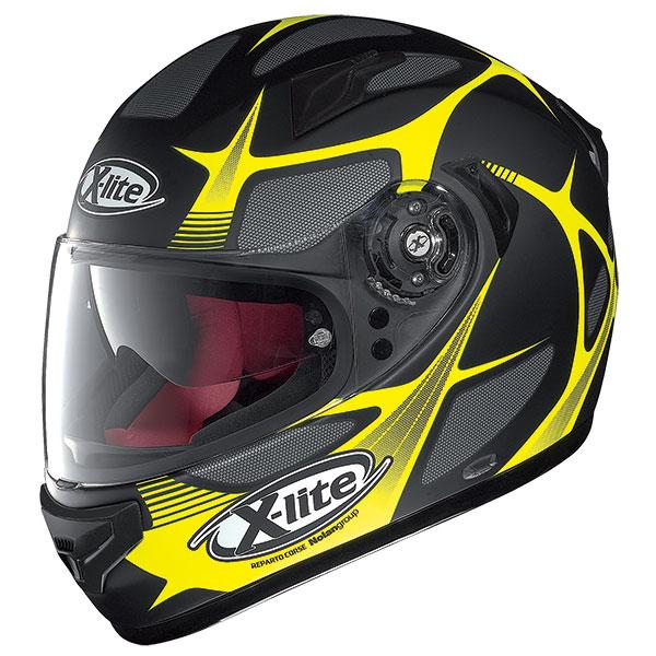 X-Lite X-661 Frantis N-Com full face helmet Matte Black Yellow