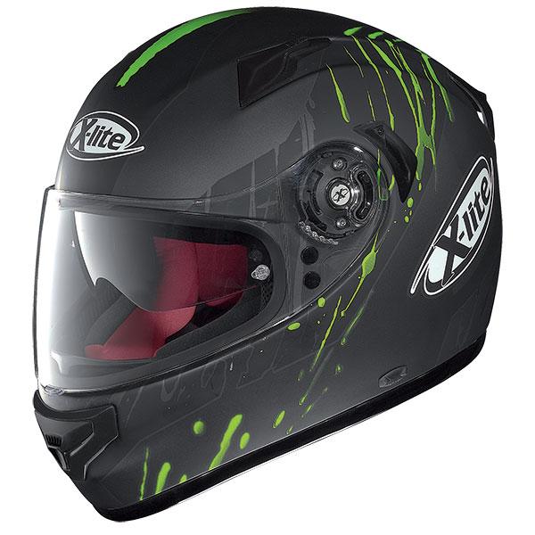 X-Lite X-661 Spox N-Com full face helmet Grey Matte Green