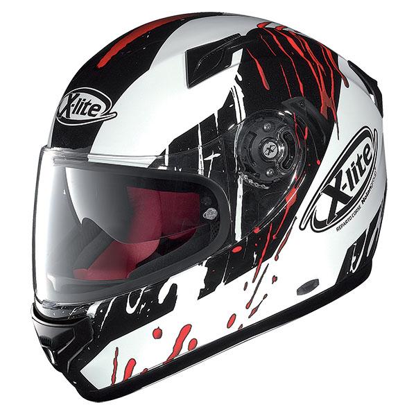 X-Lite X-661 Spox N-Com full face helmet White Black Red