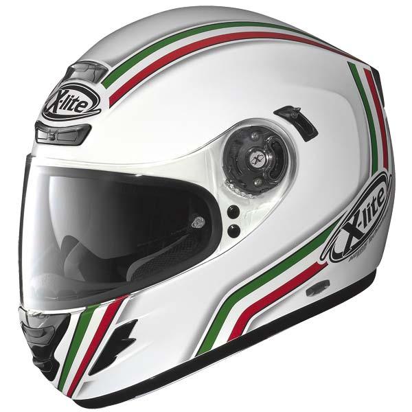 Casco moto X-Lite X702 League N-COM bianco metal