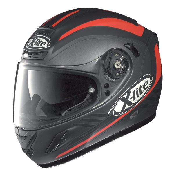 Casco moto X-Lite X702 Wave N-Com flat lava-red