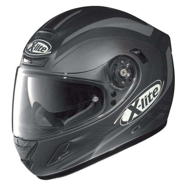 Casco moto X-Lite X702 Wave N-Com flat lava-grey