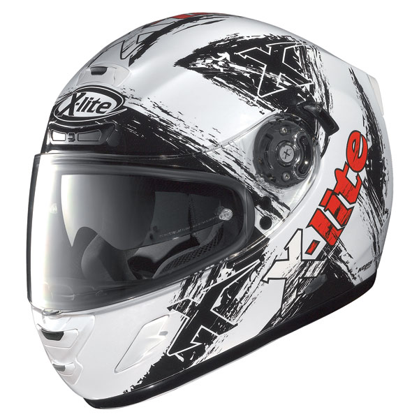 Casco moto X-Lite X702 Scraped N-Com metal white