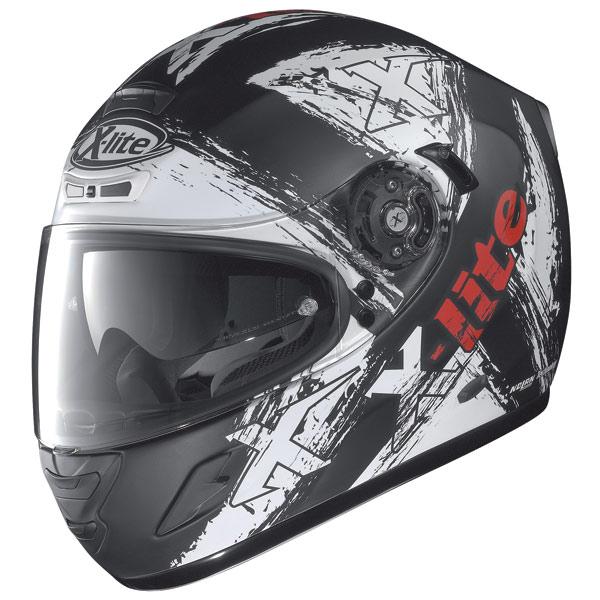Casco moto X-Lite X702 Scraped N-Com flat black