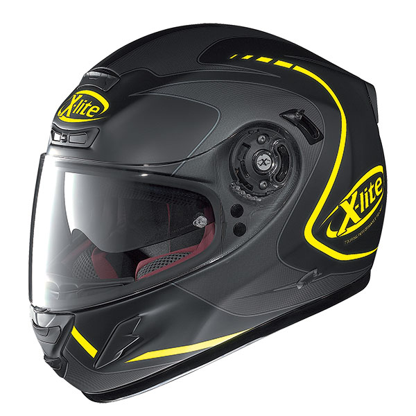 X-Lite X-702 GT Cosy N-Com full face helmet Matte Black Yellow