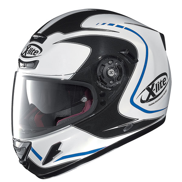 X-Lite X-702 GT Cosy N-Com full face helmet White Black Blue