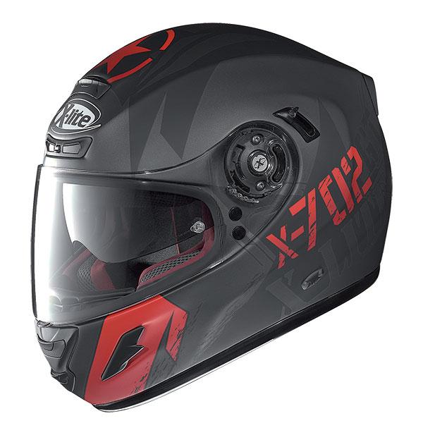 X-Lite X-702 GT Fightex N-Com full face helmet Matte Black Red
