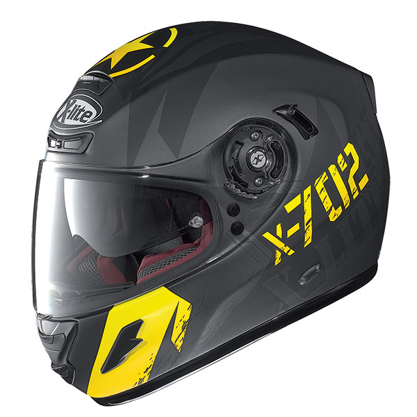 X-Lite X-702 GT Fightex N-Com full face helme Matte Black Yellow