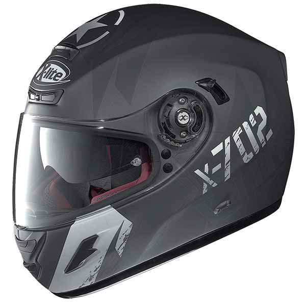 X-Lite X-702 GT Fightex N-Com full face helmet Matte Black Grey