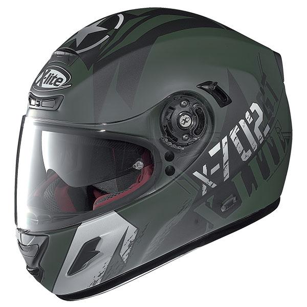 X-Lite X-702 GT Fightex N-Com full face helmet Military green