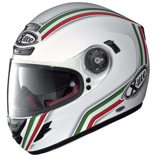 X-lite X702 GT League N-Com fullface helmet metal white