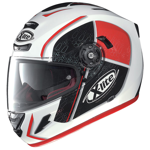 X-Lite X-702 GT Scorey N-Com full face helmet White Red