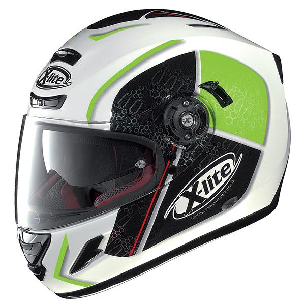 X-Lite X-702 GT Scorey N-Com full face helmet White Green