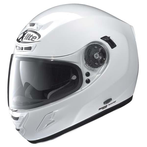 Casco moto X-Lite X702 Start N-COM bianco metal