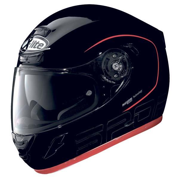 Casco moto X-Lite X702 Sport Tourer N-COM nero metal