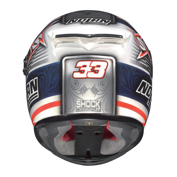 Nolan X802-R Replica Melandri white fullface helmet