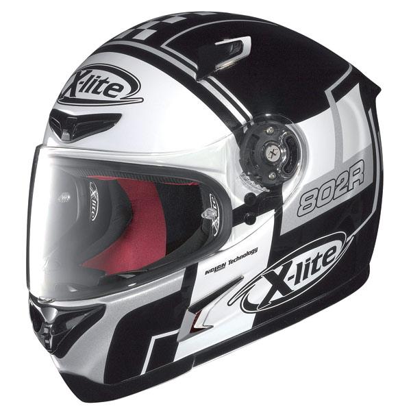 X-lite X-802R Rush fullface helmet black-white-grey
