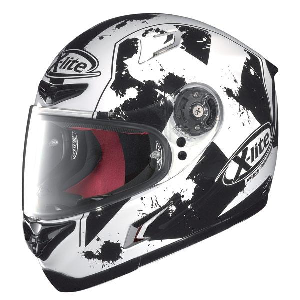 Casco moto X-Lite X-802R Escape bianco-nero