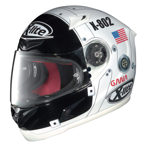 X-Lite X-802R Replica Lorenzo moon white full face helmet