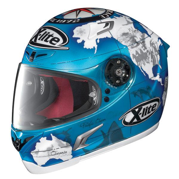 Casco moto X-Lite X-802R Replica C.Checa pearl blue
