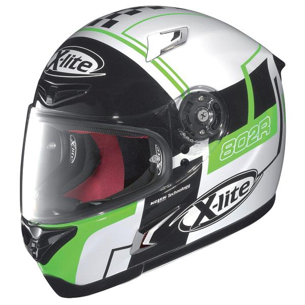 X-lite X-802R Rush fullface helmet white-black-green