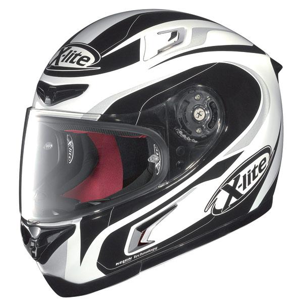 X-lite X-802R Racer fullface helmet white-black-grey