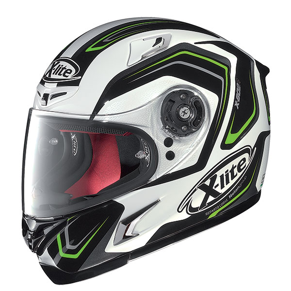 X-Lite X-802R Helder full face helmet Black White Green
