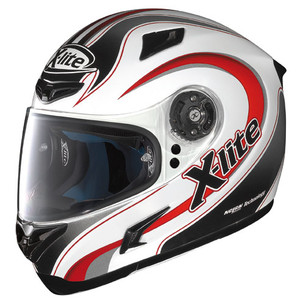 X-Lite X-802 Twist white red fullface helmet