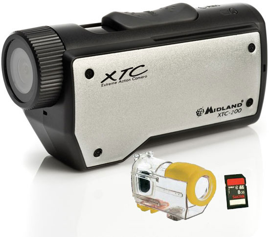 Videocamera Midland XTC-200 Action Camera+ custodia H2O+ SD card