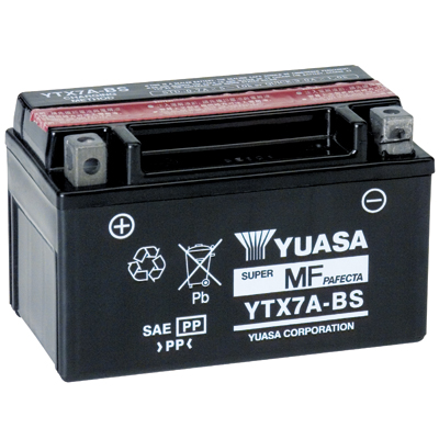 YTX7A-BS Yuasa Battery, 6A, positive SX, 150x87x94mm