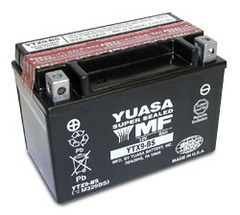 Yuasa YTX9-BS battery, 8A, LH polarity, 150x87x105mm