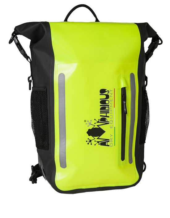 Backpack imperneabile Amphibious Atom Fluo Yellow