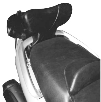 Specific backrest for passenger Kappa for Yamaha T-Max 500