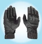 Prexport Spider summer leather gloves Black
