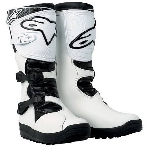 Cross Boots White Alpinestars No Stop Trial