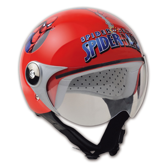 Casco moto bambino Spiderman City Red HDM