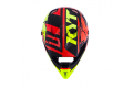 Casco cross KYT Cross Over Ktime rosso giallo fluo