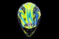 Casco cross KYT Strike Eagle Patriot in fibra blu giallo