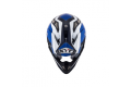 Casco cross KYT Strike Eagle Wings in fibra bianco blu