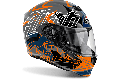 Casco integrale Airoh Storm Pinlock Ready Bionikle arancio lucido