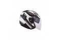 Casco Jet KYT Hellcat GX-S bianco grigio canna di fucile metallizzato